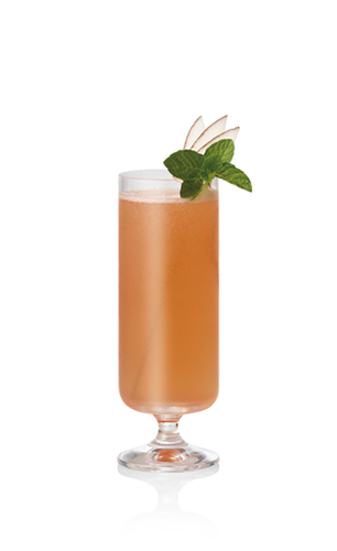 Glass of Blushing Bubbles Cocktail